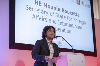 HE Mounia Boucetta Opening the Forum