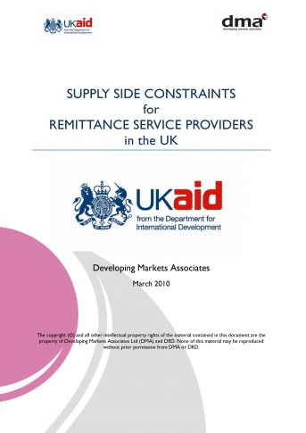 Report for DfiD on the supply side of remittances market